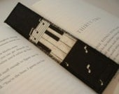 Bookmark with Piano Keyboard Music Notes