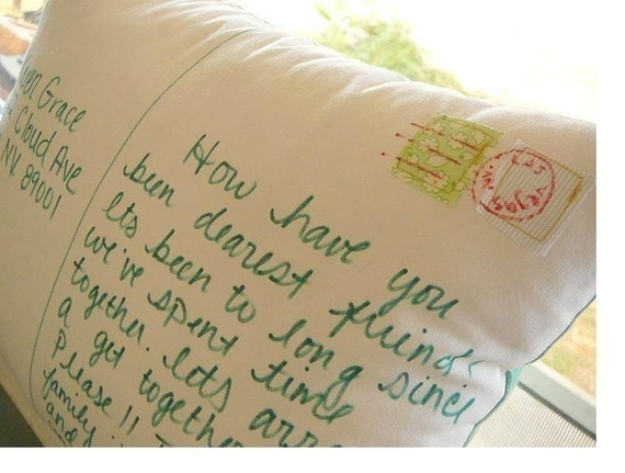 Personalize a Postcard Pillow   Buy 1 Get 1 Half Price SALE