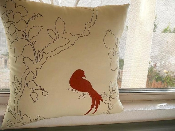 Alone With My Thoughts Birds Pillow