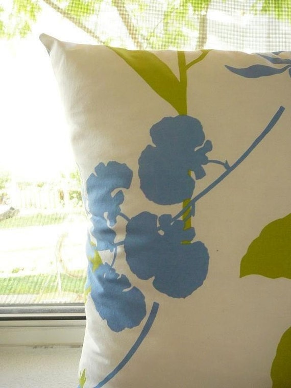 Sun Set On My Flowers Organic Cotton Pillow
