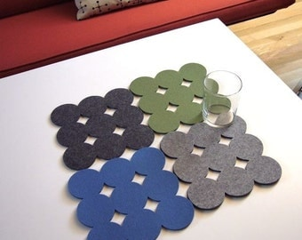 Circle Felt Trivets (Set of 2)