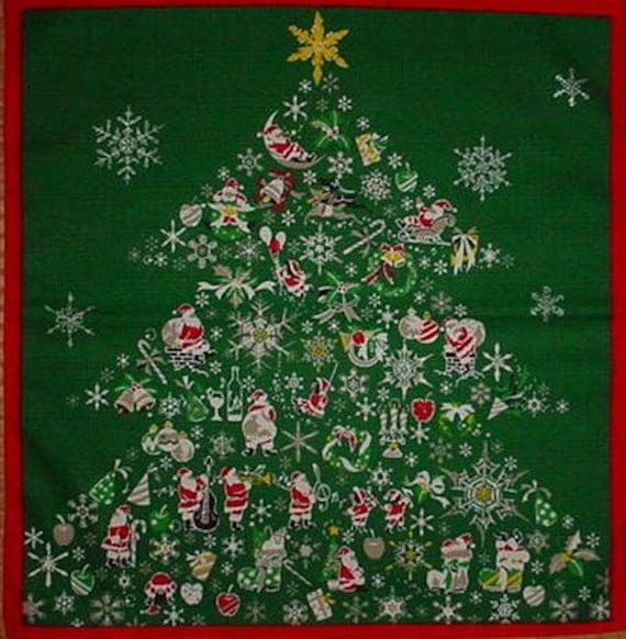 Furoshiki 'Christmas' Cotton Japanese Fabric w/Free Insured Shipping