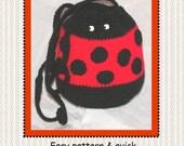 Ladybug Purse Tote Crochet Pattern