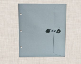 Envelope with Button and String Closure for (Baby Book and Photo Album)