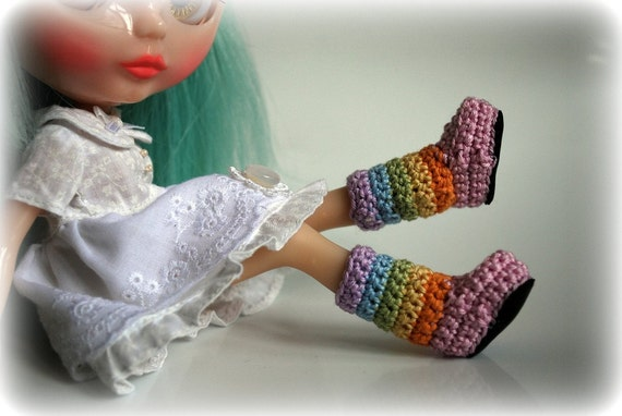 THEY'RE BACK - Pastel Rainbow Stripy Fluggs for Blythe