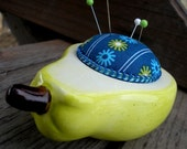 What a Pear Upcycled Pincushion