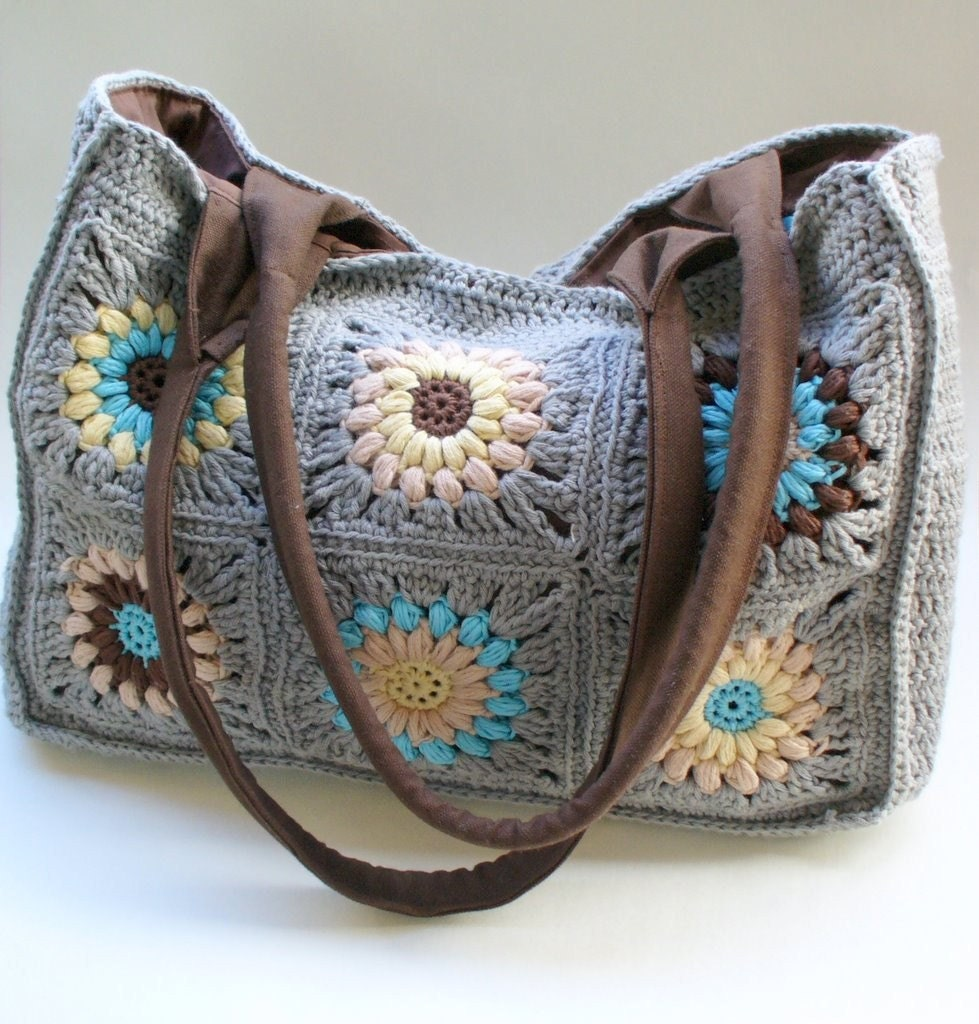 crochet granny squares bag by margiwarg on Etsy