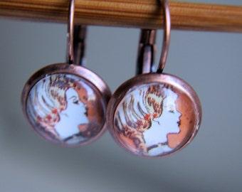 Copper Ladies Earrings