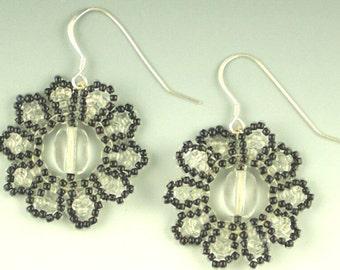 Herringbone Snowflake Earrings