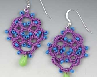 Colorful Needle Tatted Earrings