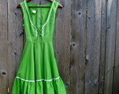 60's vintage corset tie milkmaid dress -  oktoberfest -  by Freestyle Collection