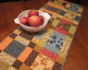 Squares and More Squares Scrappy Table Runner