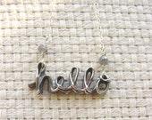 hello Fine Silver Necklace - Solstice Jewelry LTD