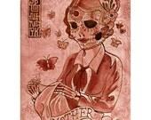 Mother Sugar Skull Sewing Print