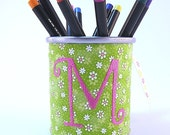 Daisy Corset Monogrammed Pencil Cup