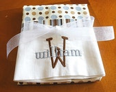 Travel Size Pillowcase-Blue and Brown Dots