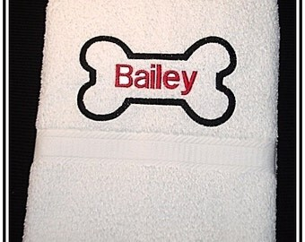 Personalized Pet Towel