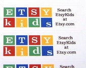 54 EtsyKid Stickers - Promo Labels - put on Packages or on the back of business cards