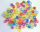 100 Fancy Ring Bird Toy Parts - Shape - Charm - Bead - Parrot Toy - Transparent