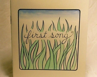 "Poetry Zine ""First Song"" // illustration zine / nature zine / art zine / landscape / summer / firefly / trees"