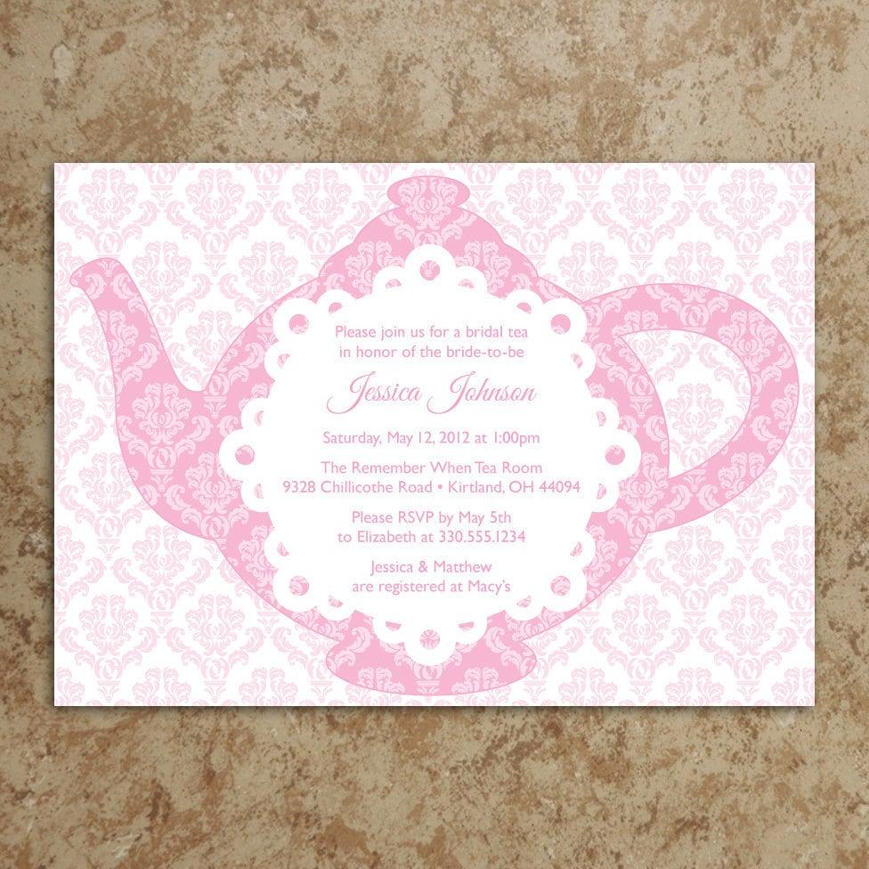 Tea party invitation diy printable pdf tea party invite zoom monicamarmolfo Image collections
