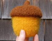 felted wool acorn bowl golden fall autumn decor
