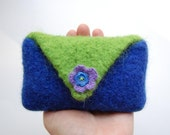 felted wool envelope case cell phone gadget cozy