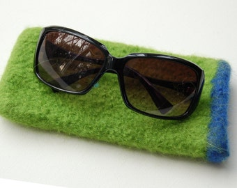 lime felted accessories suglasses case made to order