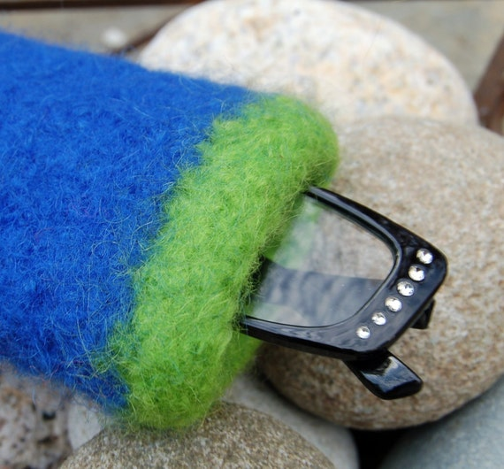 felted wool eyeglass case made to order in any color