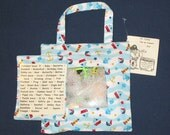Treasure Hunt Bag Nautical Print Fabric