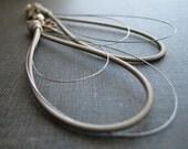 guitar string earrings - Recycled teardrop