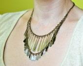 Bib Necklace : Metal Fringe Necklace