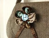 Soft shoulder bag in herringbone tweed