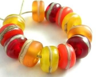 Handmade Lampwork Glass Beads - Organic Essentials - Sunshine