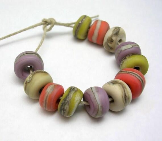 Handmade Lampwork Glass Beads - Sierra - Organic Essentials