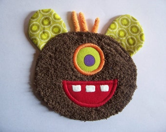 Silly Eye Brown Monster Patch