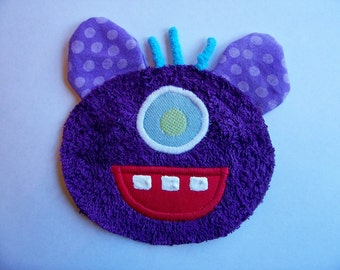 One Eye Purple People Eater Patch