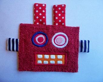 Kooky Eye Red Robot Guy