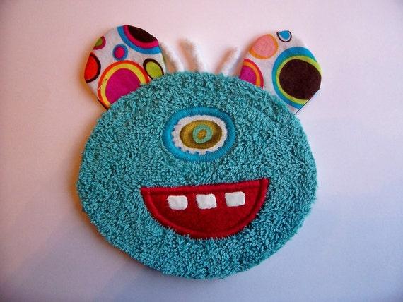 One Eye Kooky Teal Monster Guy