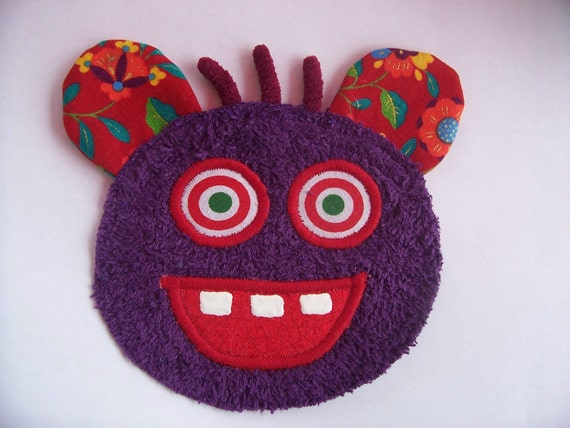 Kooky Eye Purple Monster Guy Patch