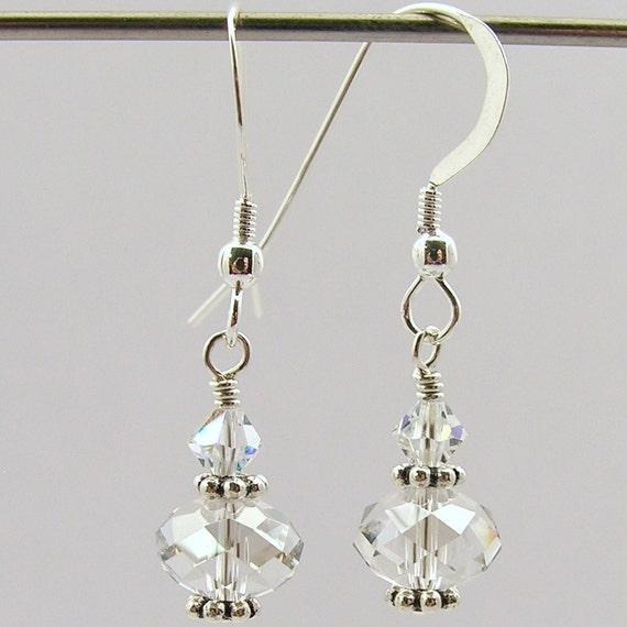 lód - Swarovski Earrings