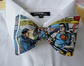 Bow tie made from Superman Comics Fabric