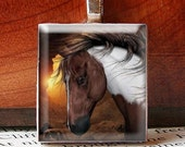 Scrabble Tile Pendant, BEAUTIFUL Paint HORSE Painting, No. 1371 by Smash Gardens on Etsy, Bridesmaids Gifts, Stocking Stuffers