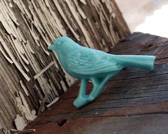 Flower Ring, Big Light Blue Bird, Gothic Victorian Big Ring by Smash Gardens on Etsy Bridesmaids Gift, Woodland Wedding, Fall Spring Bird