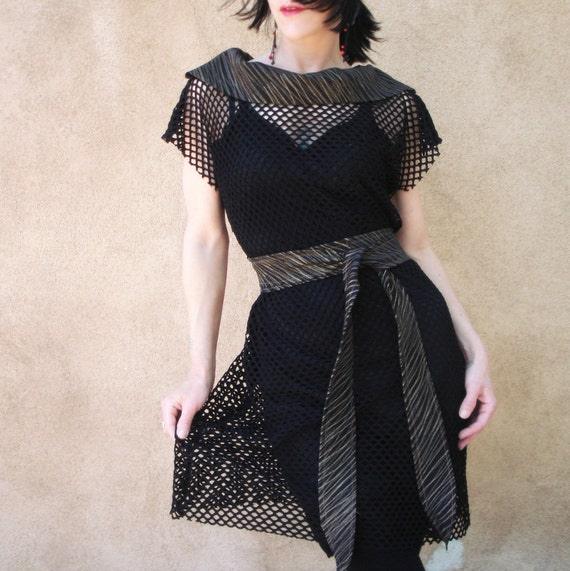 Reserved for Mary-Margaret - Confess - iheartfink Handmade Mesh Net Dress and Slip