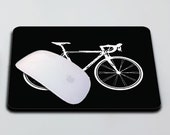 Mouse Pad - Road Bicycle in Black