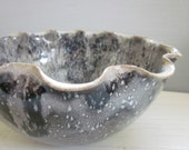 constellation bowl black and white serving bowl - 8 1/2 inches
