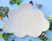 white cloud dessert plate - 9 1/2 inches