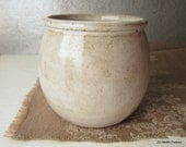 rustic handless cup - speckled white - made to order