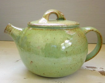 spring green teapot - made to order - 8 week production time